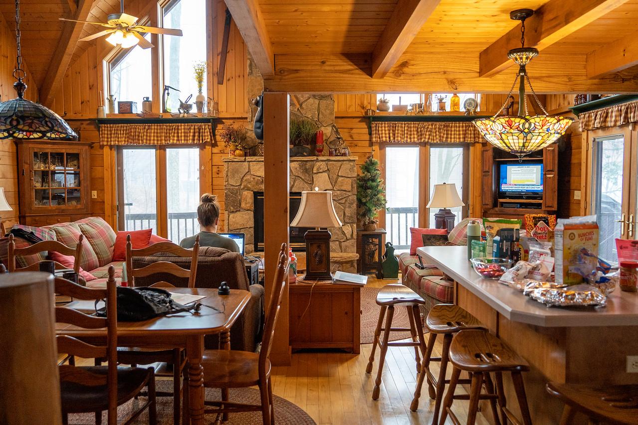 Smokies cabin interior