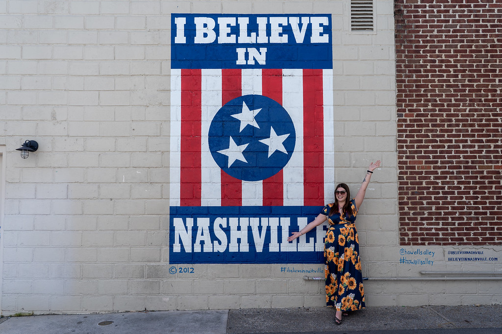 Amanda at Nashville mural