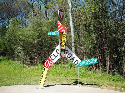 Sculpture in Longview, Texas