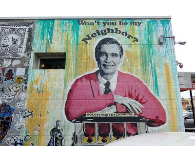 Mr. Rogers mural in Austin