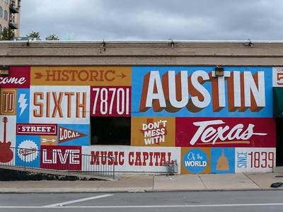 Austin 6th street mural