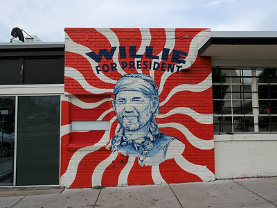 Willie mural in Austin