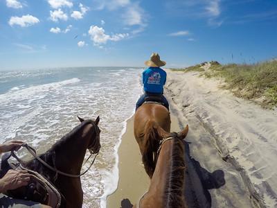 Horseback riding on South Padre Island