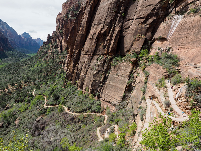 Trail to Angels Landing in Zion National Park