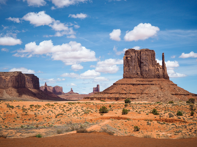 A Mitten at Monument Valley