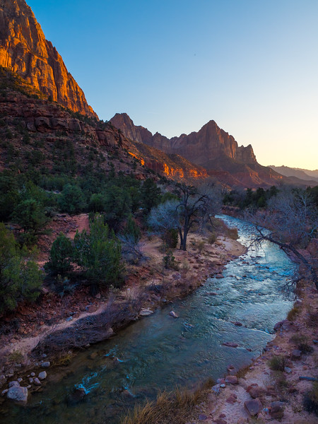 The Watchman at sunset in Zion National Park