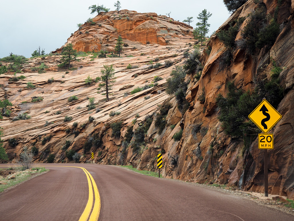 Mount Carmel Highway in Zion National Park