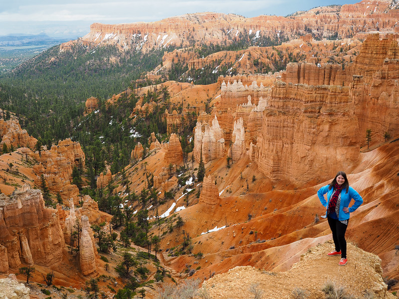 Posing at Sunset Point at Bryce Canyon National Park