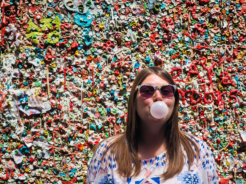 At the Gum Wall in Post Alley