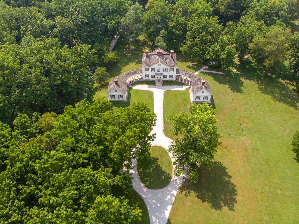 Blennerhassett Mansion from above