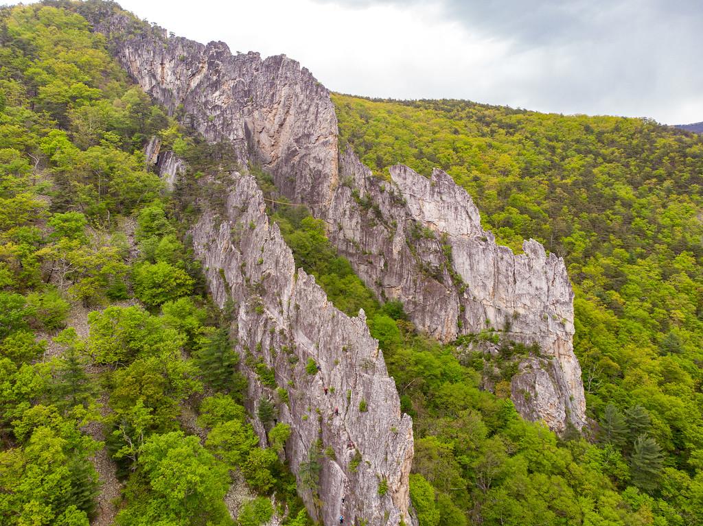 Rock fins in West Virginia
