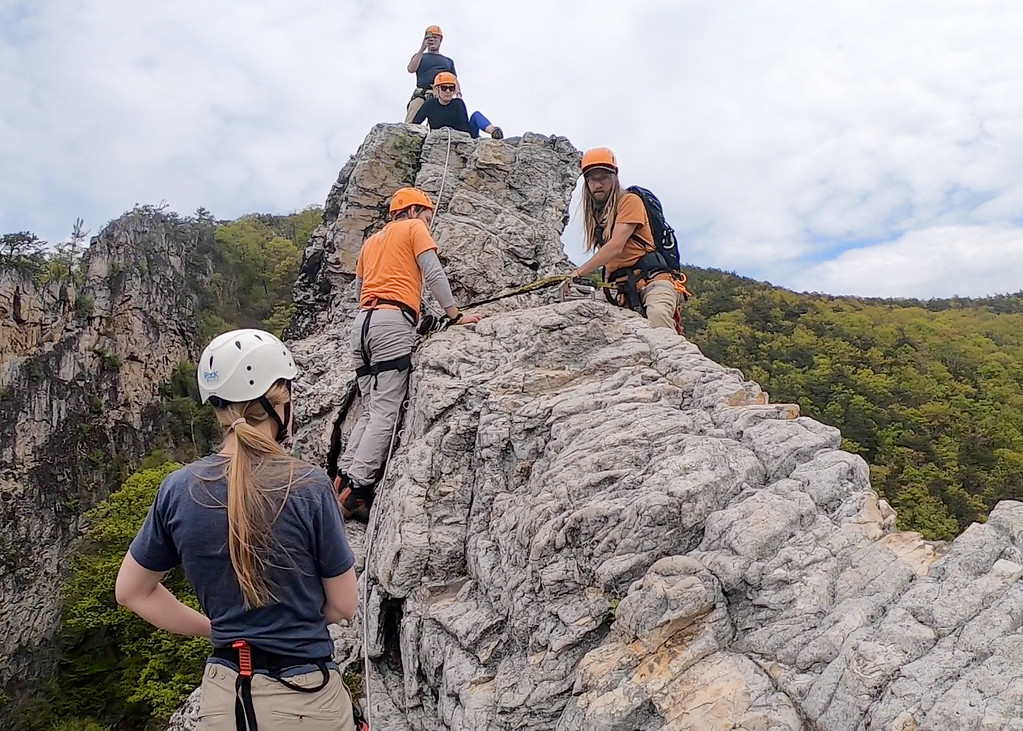 Via ferrata course in West Virginia