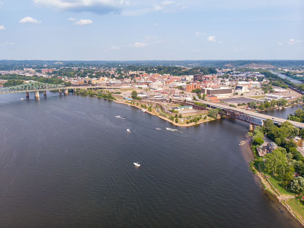 Parkersburg, West Virginia from above