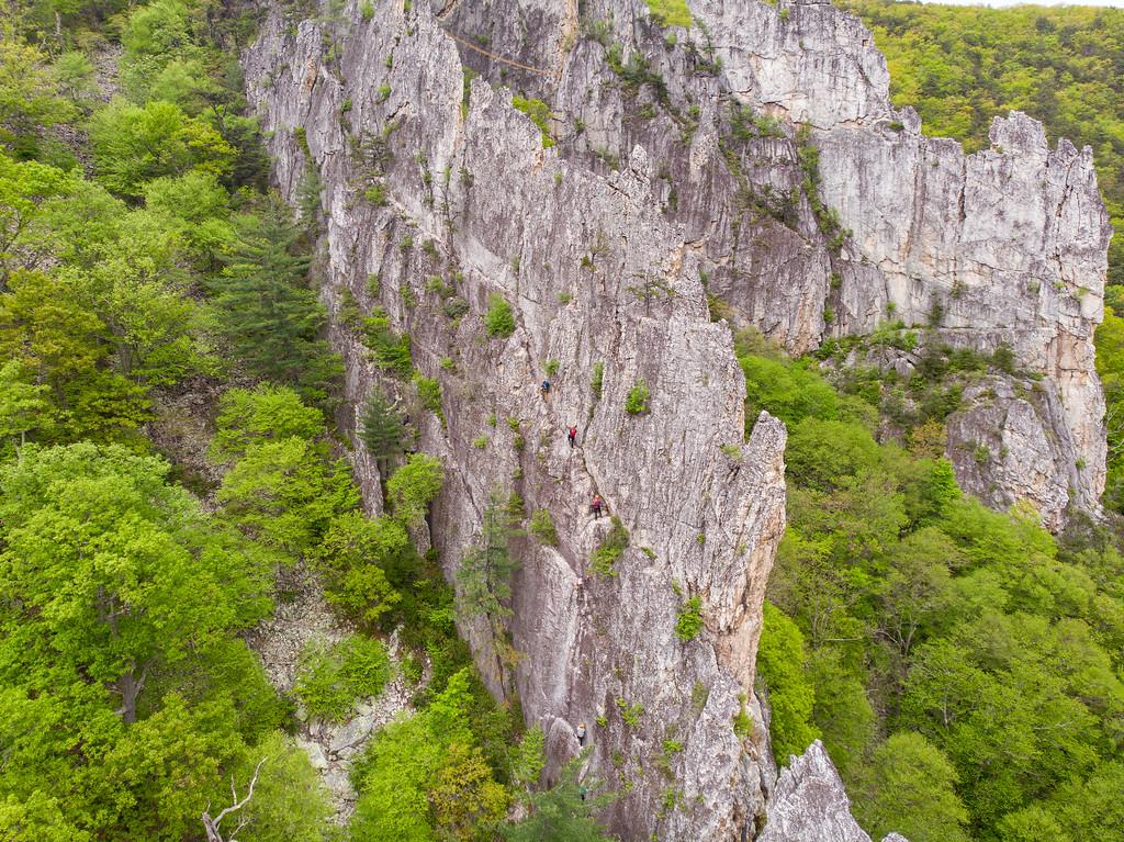 Drone view of via ferrata