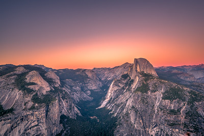 Orange Shades over Half Dome