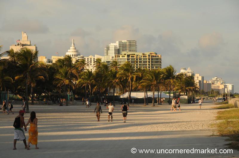 Walking Down South Beach - Miami, Florida