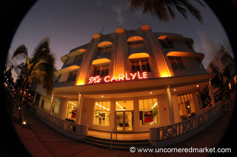 South Beach Art Deco in Fisheye - Miami, Florida
