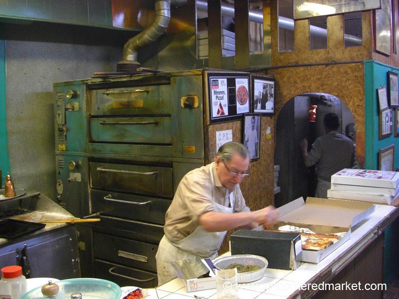 Preparing the Pizza - Brooklyn, New York
