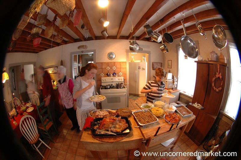 Thanksgiving Kitchen, Fisheye - Scranton, Pennsylvania