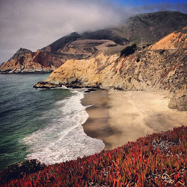 Some of the finest coastline in the world, Gray Whale Cove, south of San Francisco