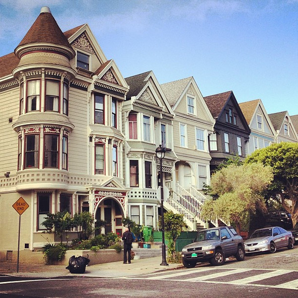 Haight St., San Francisco, where even the ordinary is beautiful.
