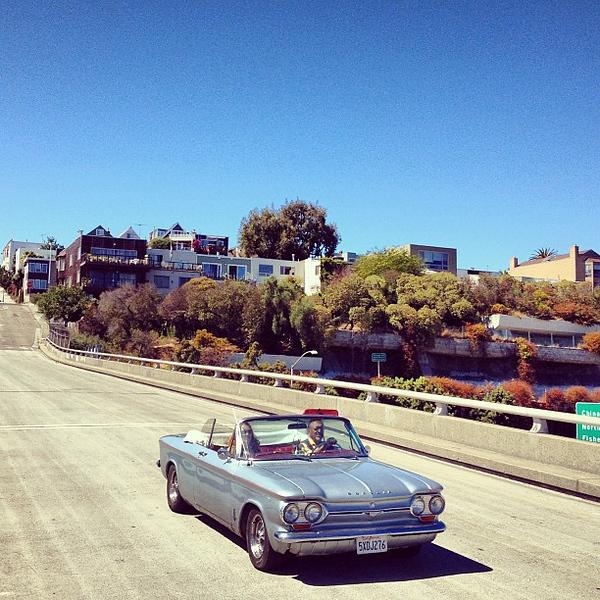 California dreamin' in a Corvair.  #midlifecrisis #SanFrancisco