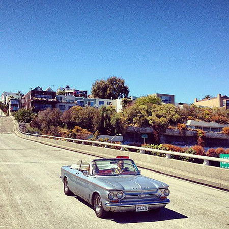 California dreamin' in a Corvair.  #midlifecrisis #SanFrancisco