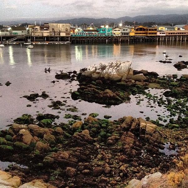 Monterey Bay Fisherman's Wharf twilight