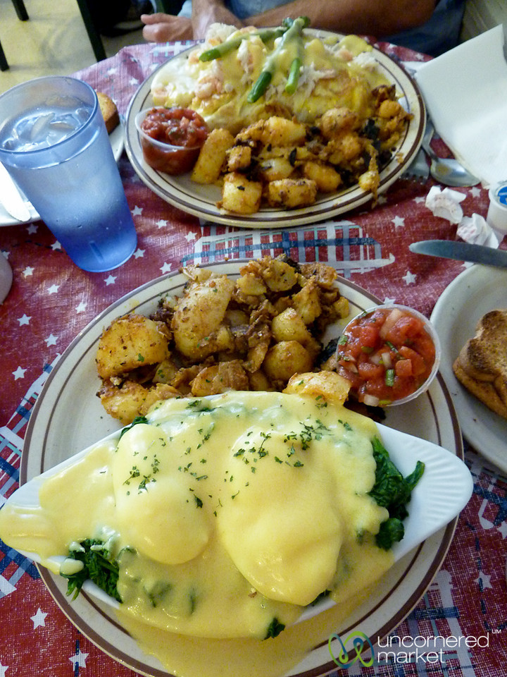 Poached Eggs on Top of Spinach - Oxnard, Califormia