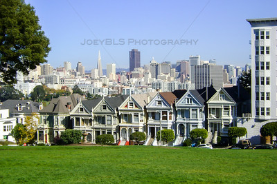 "The famous ""Painted Ladies"" of San Francisco. That is the name of these Victorian homes that reside across from Alamo Square near downtown San Francisco. This is a popular spot for photographers and are most famous for their appearance in the opening credits of the 1990s hit TV show ""Full House""."