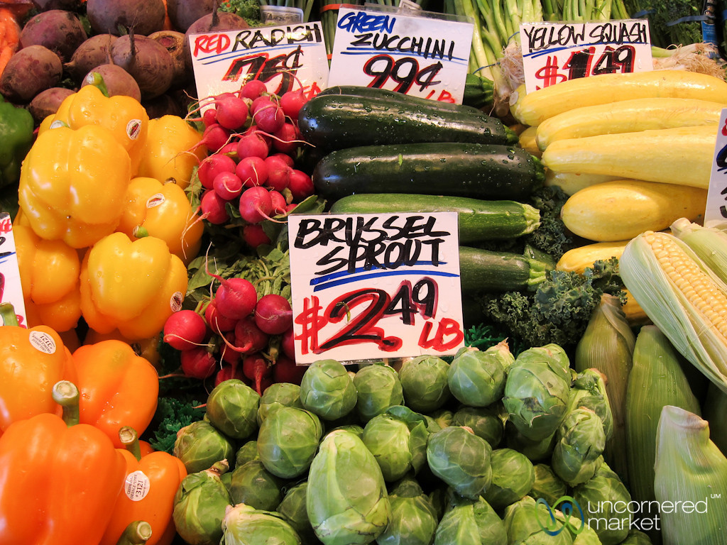 Fresh Vegetables at Pike Place Market - Seattle, Washington