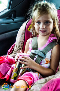 Buckled in, Leia is ready for her big visit to Naples Zoo