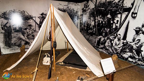 Civil war tent
