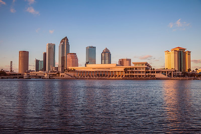 Tampa, Florida Skyline just before Sunset