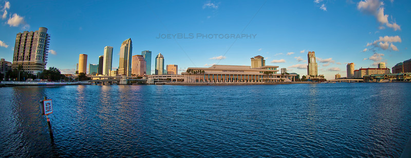 Panoramic View of Tampa, Florida on Tampa Bay