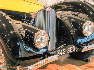 1937 Bugatti Type 57S Atalante Coupe front detail