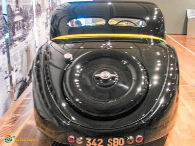 1937 Bugatti Type 57S Atalante Coupe rear
