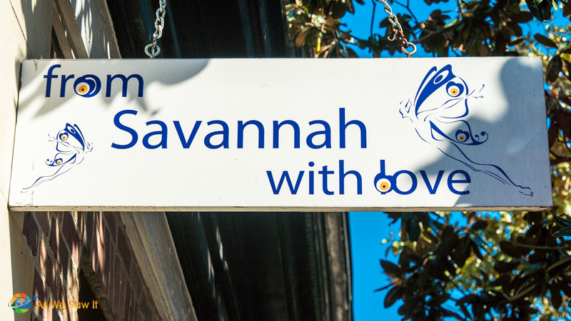 Sign says from Savannah with love