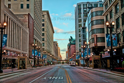 State Street in downtown Chicago