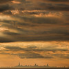 Chicago Skyline from Miller Beach in Gary, Indiana
