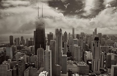 Aerial Chicago featuring John Hancock Center