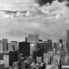 Chicago Skyline Panoramic in Black and White
