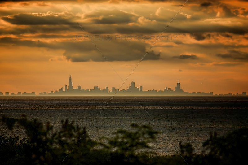 Chicago Skyline from Miller Beach