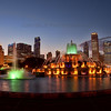 Buckingham Fountain Chicago after Sunset