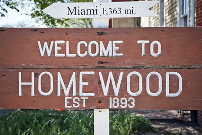 Welcome to Homewood, Illinois Sign