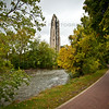 Naperville Riverwalk and Moser Tower with Millennium Carillon