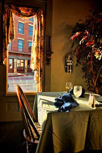 Horse in a Window in Galena, Illinois