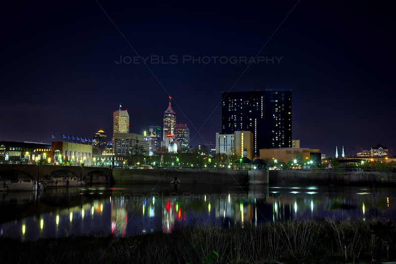 Downtown Indianapolis, Indiana at Night