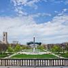 Veterans Memorial Plaza in Indianapolis, Indiana