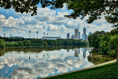 Indianapolis, Indiana Skyline on the White River